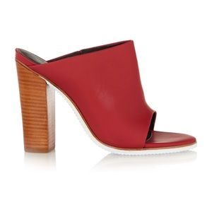 ❤️ Tibi Bee Rubber Mule Heels In Red Size 36 ❤️